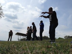 South Dallas Cultural Center participants engage in the Oh, Deer! game as part of the  Arts in the Parks Hip Event at Lake Whitney State Park