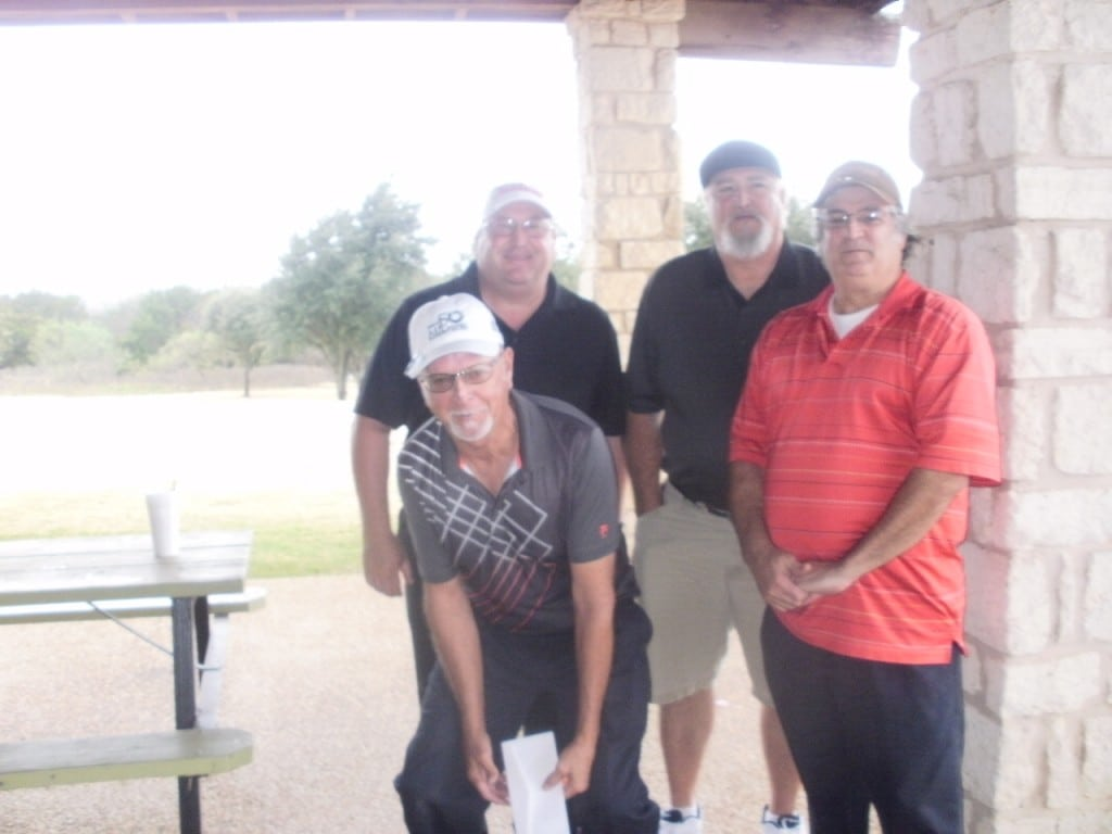 3rd. Place Winners with a score of 62 and a $60.00 cash prize winner Team #3:  Billy Grizzle, Joel Landingham, Ronny Mena & Sidney Freeman. As you can see the golfers had a great time. A second $349.00 Dixon Aurelius Driver was awarded to Ronnie Upchurch, Team#1 from HILCO, who won their raffle contest.